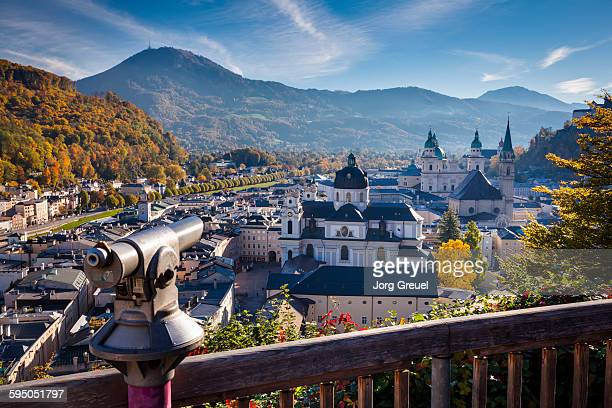 salzburg in autumn - salzburger land stock pictures, royalty-free photos & images