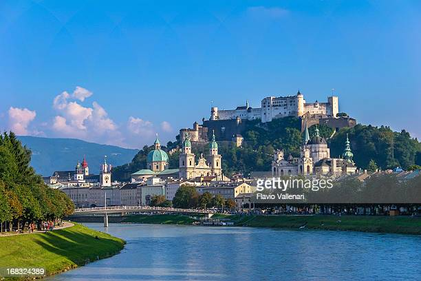 salzburg in summer - salzburger land stock pictures, royalty-free photos & images