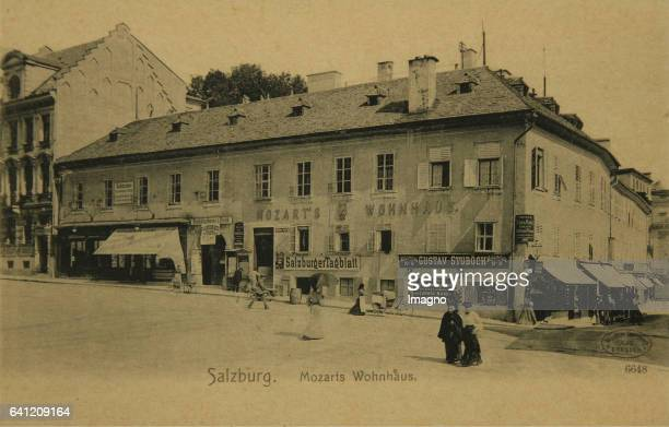 Salzburg Mozart's residence Collotype Photograph and publishing by Wilhelm Hoffmann AG / Dresden