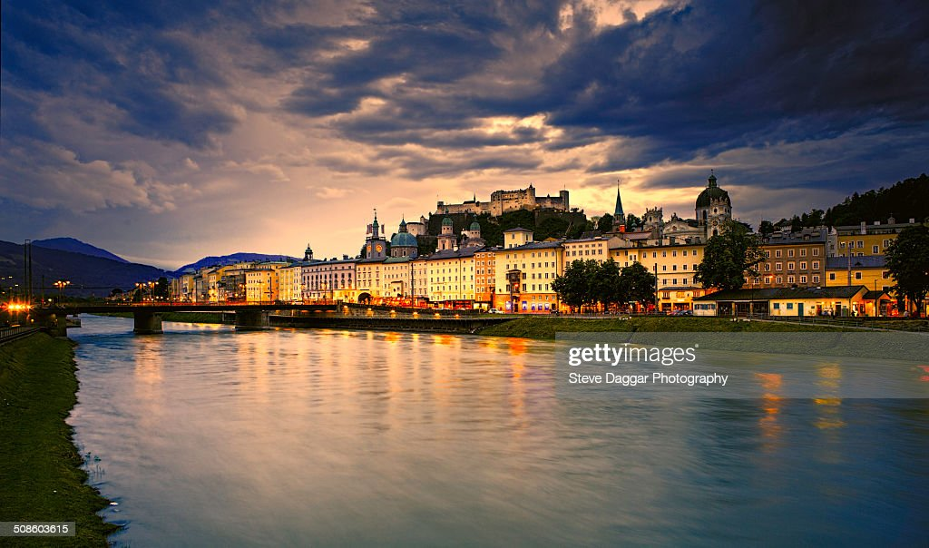 Salzburg Sunset : Foto de stock