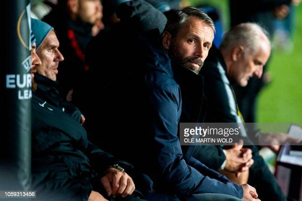 Salzburgs manager Marco Rose during the UEFA Europa league football match Rosenborg vs RB Salzburg on November 8, 2018 in Trondheim. / Norway OUT