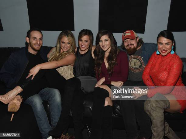 Sam Alex Leah Turner Mary Sarah Colby Dee Andy Buckner and Rachel Baribeau backstage during ForgetMeNot A Night Of Music For Alzheimer's Awareness at...