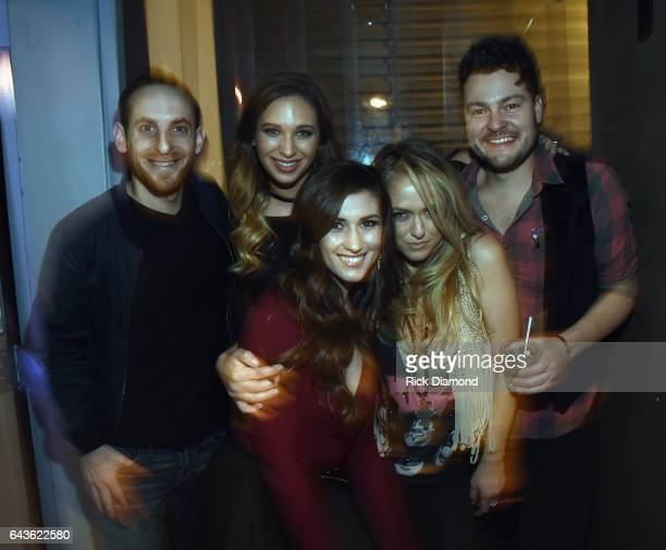 Sam Alex Olivia Lane Colby Dee Leah Turner and Dean Alexander backstage during ForgetMeNot A Night Of Music For Alzheimer's Awareness at 3rd Lindsley...