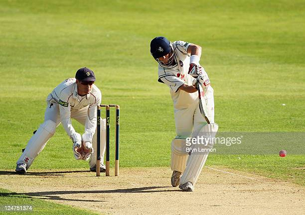 Sam Alexander Northeast of Kent in action during the LV County Championship match between Kent and Glamorgan at the St Lawrence Ground on September...