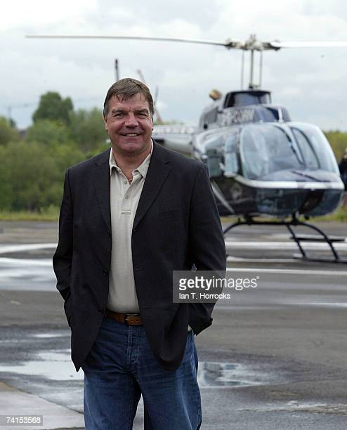 Sam Allardyce arrives at Newcastle City Heliport before a press conference held at St. James' Park on May 15, 2007 in Newcastle-Upon-Tyne, England.