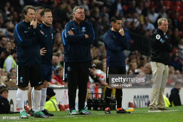 Sam Allardyce lookson during Soccer Aid for Unicef 2018 at Old Trafford on June 10 2018 in Manchester England