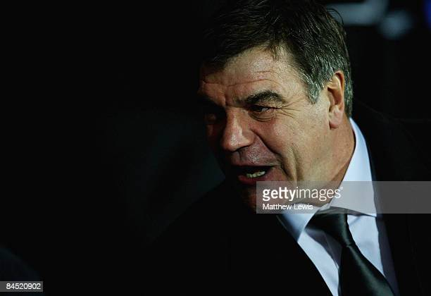 Sam Allardyce manager of Blackburn Rovers looks on during the Barclays Premier League match between Blackburn Rovers and Bolton Wanderers at Ewood...