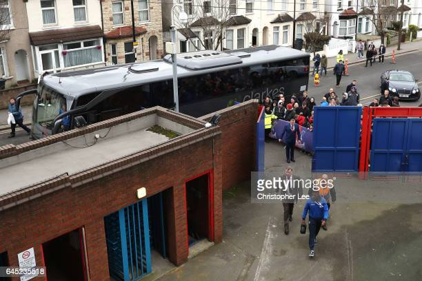Sam Allardyce manager of Crystal Palace arrives prior to the Premier League match between Crystal Palace and Middlesbrough at Selhurst Park on...