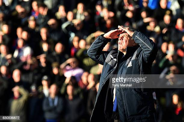 Sam Allardyce, manager of Crystal Palace looks on during the Premier League match between Watford and Crystal Palace at Vicarage Road on December 26,...