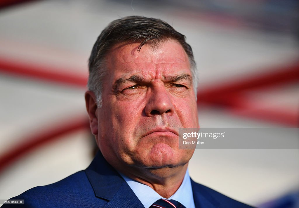 Sam Allardyce manager of England looks on prior to the 2018 FIFA World Cup Group F qualifying match between Slovakia and England at City Arena on September 4, 2016 in Trnava, Slovakia.