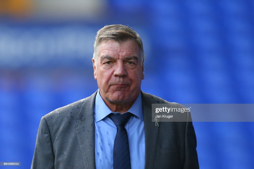 Sam Allardyce, Manager of Everton arrives at the stadium prior to the Premier League match between Everton and Huddersfield Town at Goodison Park on December 2, 2017 in Liverpool, England.