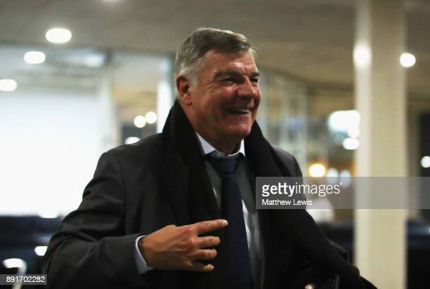 Sam Allardyce Manager of Everton arrives at the stadium prior to the Premier League match between Newcastle United and Everton at St James Park on...