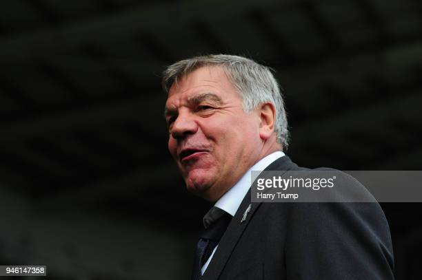 Sam Allardyce Manager of Everton arrives at the stadium prior to the Premier League match between Swansea City and Everton at Liberty Stadium on...