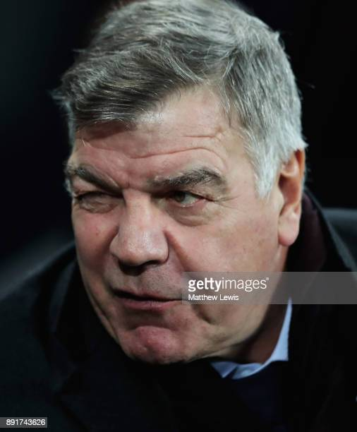 Sam Allardyce manager of Everton looks on during the Premier League match between Newcastle United and Everton at St James Park on December 13 2017...