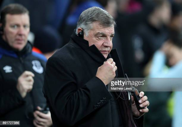 Sam Allardyce Manager of Everton looks on prior to the Premier League match between Newcastle United and Everton at St James Park on December 13 2017...