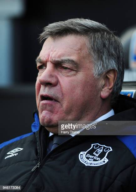 Sam Allardyce Manager of Everton looks on prior to the Premier League match between Swansea City and Everton at Liberty Stadium on April 14 2018 in...