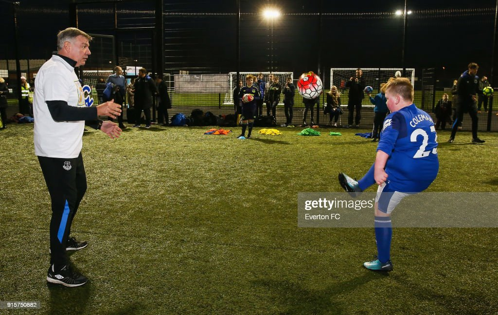 Sam Allardyce Manager Of Everton Plays Football With A Young Fan News Photo Getty Images