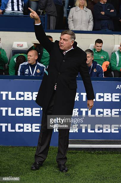 Sam Allardyce manager of Sunderland looks on prior to the Barclays Premier League match between West Bromwich Albion and Sunderland at The Hawthorns...
