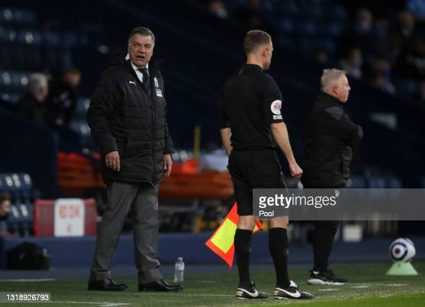 Sam Allardyce, Manager of West Bromwich Albion looks dejected during the Premier League match between West Bromwich Albion and West Ham United at The...