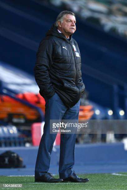 Sam Allardyce, Manager of West Bromwich Albion looks on during the Premier League match between West Bromwich Albion and Brighton & Hove Albion at...