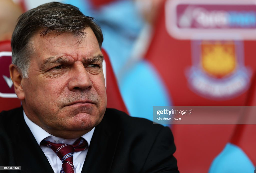 Sam Allardyce, manager of West Ham United looks during the Barclays Premier League match between West Ham United and Reading at the Boleyn Ground on May 19, 2013 in London, England.