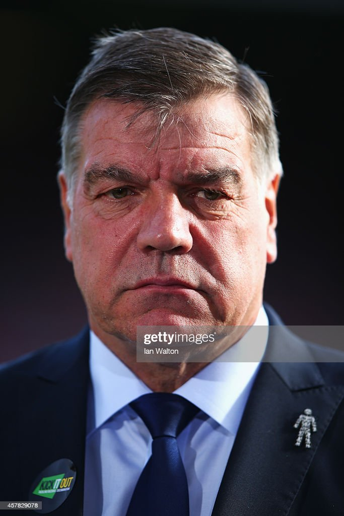 Sam Allardyce, manager of West Ham United looks on prior to the Barclays Premier League match between West Ham United and Manchester City at Boleyn Ground on October 25, 2014 in London, England.