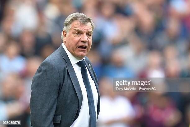 Sam Allardyce of Everton during the Premier League match between West Ham United and Everton at London Stadium on May 13 2018 in London England