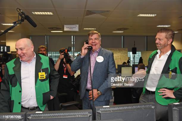 Sam Allardyce representing Muscular Dystrophy UK attends BGC Charity Day at One Churchill Place on September 11, 2019 in London, England.