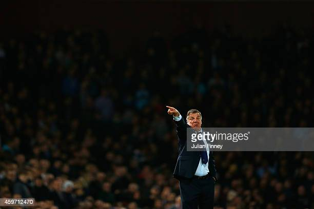 Sam Allardyce the West Ham manager on the touchline during the Barclays Premier League match between West Ham United and Newcastle United at Boleyn...