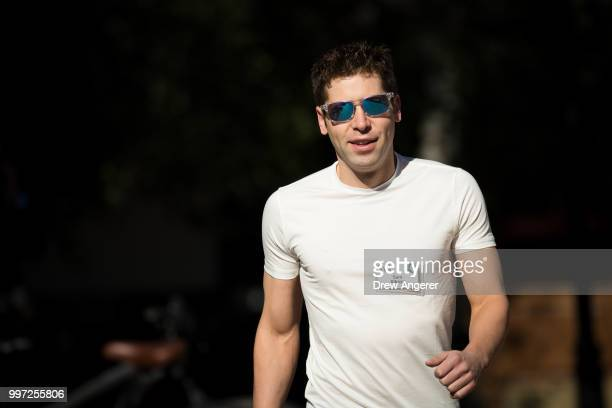 Sam Altman president of Y Combinator and founder of political initiative United Slate attends the annual Allen Company Sun Valley Conference July 12...