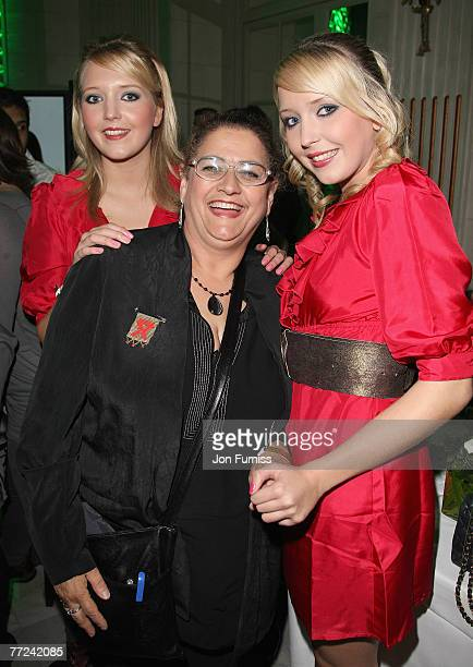 Sam and Amanda with Carol from Big Brother attend the Specsavers Spectacle Wearer Of The Year 2007 Awards held at the Waldorf Hilton Hotel on October...