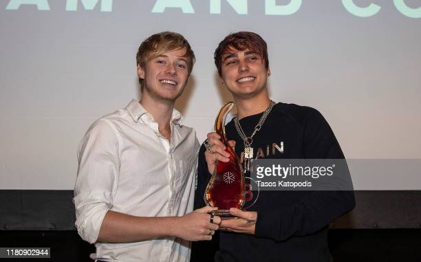 Sam and Colby win Breakout Creator at the Catalyst Content Awards Gala on October 13 2019 in Duluth Minnesota