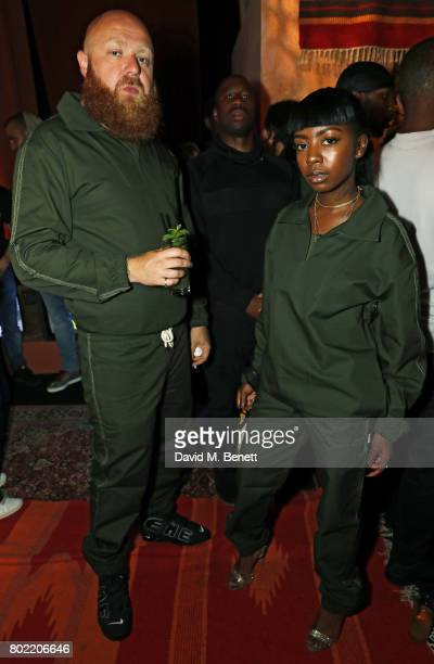 Sam and Siobhan Bell attend the launch of Skepta's new fashion label Mains at Selfridges on June 27 2017 in London England