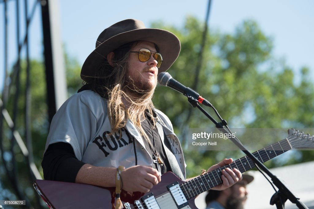 Sam Anderson of Quaker City Night Hawks performs during Fortress Festival on April 30, 2017 in Fort Worth, Texas.