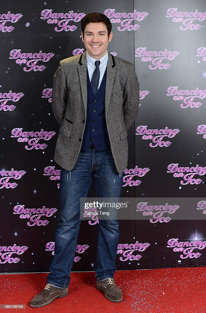 Sam Attwater attends the series launch photocall for 'Dancing on Ice' held at the London Studios on January 2, 2014 in London, England.