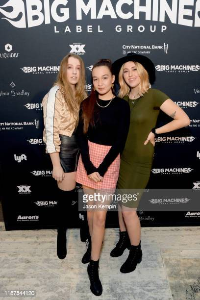 Sam Backoff, Savana Santos and Sami Bearden of Avenue Beat attends Big Machine Label Group celebration of The 53rd Annual CMA Awards in Nashville at...