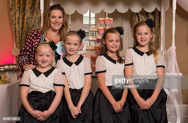 Sam Bailey and her daughter Brooke Pearson are joined by nieces Niamh Pearson and Jenny Pearson and a friend's daughter Niamh Davis pose for a photo...