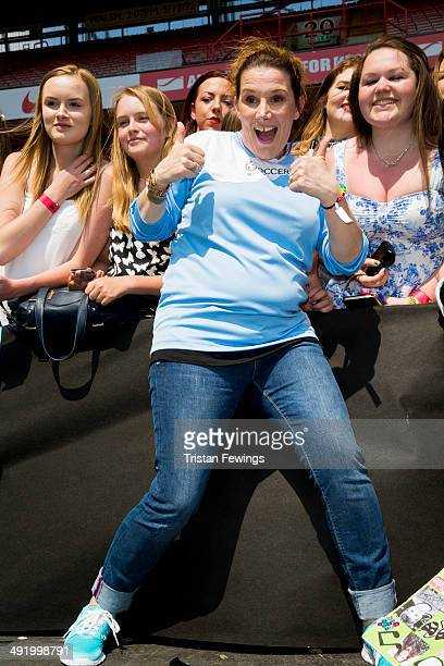 Sam Bailey attends Soccer Six in aid of Help A Capital Child and the Charlton Athletic Community Trust at Charlton Athletic FC on May 18 2014 in...