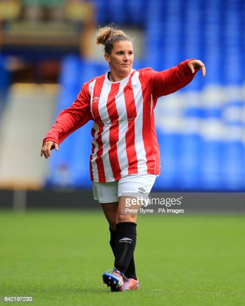 Sam Bailey during the Bradley Lowery charity match at Goodison Park Liverpool PRESS ASSOCIATION Photo Picture date Sunday September 3 2017 See PA...