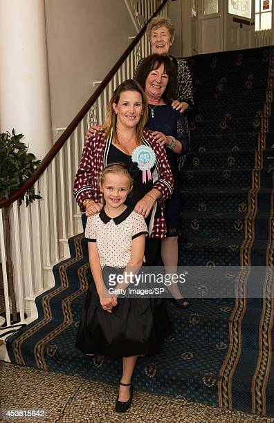 Sam Bailey her daughter Brooke Pearson mother Jackie Bailey and grandmother Rita Adams attend Sam's Baby Shower at The City Rooms on August 10 2014...