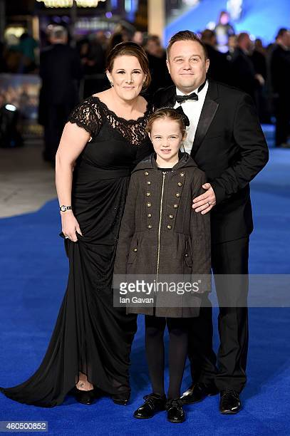 Sam Bailey husband Craig Pearson and daughter Brooke attend the UK Premiere of Night At The Museum Secret Of The Tomb at Empire Leicester Square on...
