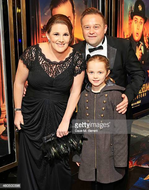 Sam Bailey husband Craig Pearson and daughter Brooke Pearson attend the UK Premiere of Night At The Museum Secret Of The Tomb at Empire Leicester...