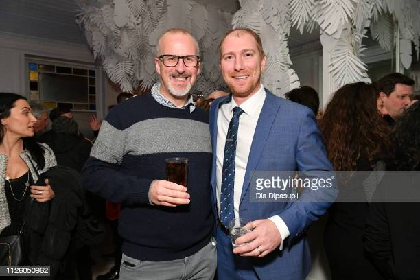 Sam Bain and David Meyer at the Corporate Animals party at DIRECTV Lodge presented by ATT at the Sundance Film Festival 2019 on January 29 2019 in...