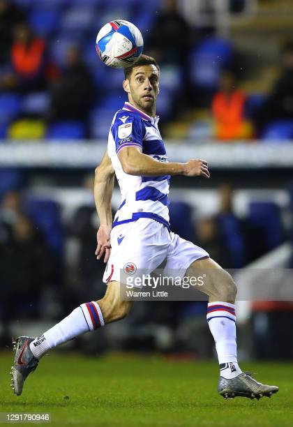 Sam Baldock of Reading FC controls the ball during the Sky Bet Championship match between Reading and Norwich City at Madejski Stadium on December...