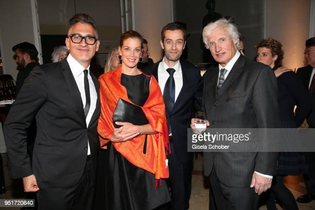 Sam Bardaouil Chairman Montblanc Cultural Foundation Marie Baeumer Vincent Montalescot Executive Vice President Marketing Montblanc International and...