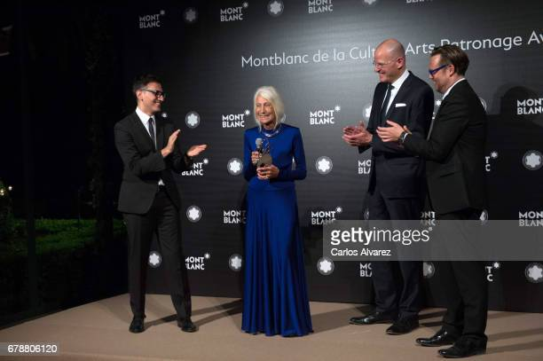Sam Bardaouil Soledad Lorenzo Jens Henning Koch and Till Fellrath attend Montblanc de la Culture Arts Patronage Award At The Madrid Palacio Liria...