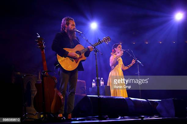 Sam Beam and Jesca Hoop performs at the Union Chapel on September 1 2016 in London England