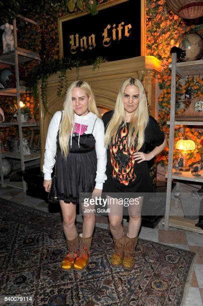 Sam Beckerman and Cailli Beckerman at UGG x Jeremy Scott Collaboration Launch Event at The hwood Group's 'Poppy' on August 27 2017 in West Hollywood...