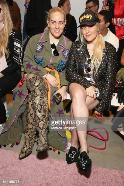 Sam Beckerman and Cailli Beckerman attends the GCDS fashion show during New York Fashion Week The Shows at Gallery 2 Skylight Clarkson Sq on...