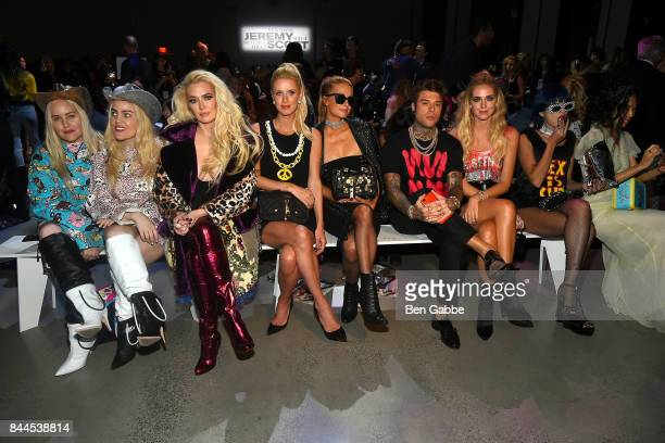 Sam Beckerman Cailli Beckerman Erika Jayne Nicky Hilton Paris Hilton Federico Lucia Chiara Ferragni and Sita Abellan attend the Jeremy Scott Fashion...